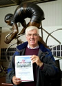 Peter Williams with certificate.