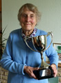 Dorothy Clift with President's Trophy.