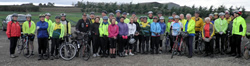 Group of riders before setting off on President's Ride, 30th September 2012