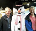 Snowman Terry with Graham & Vicky